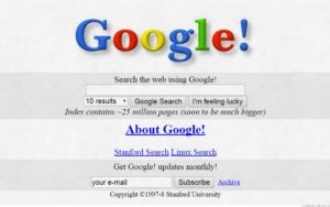 Old Google main search page