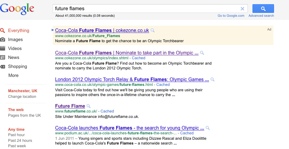 future flames google