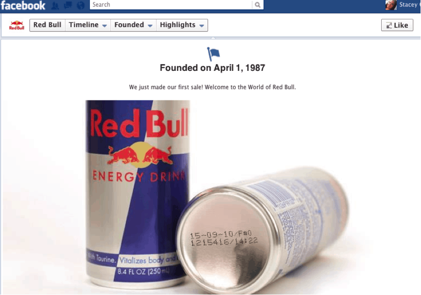 Facebook timeline for brands milestones