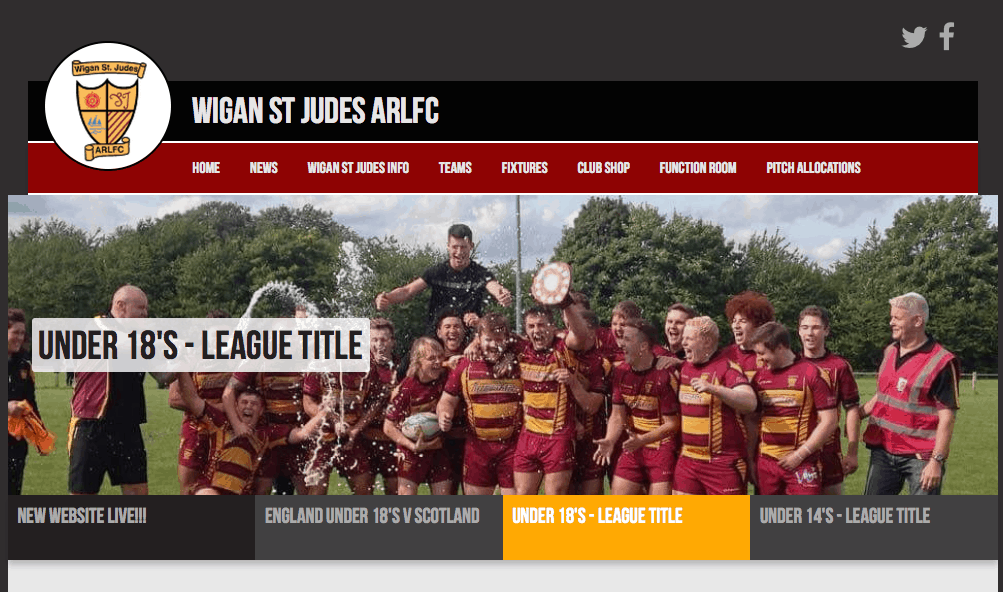 Wigan St Judes website