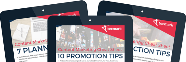 Content marketing cheat sheets