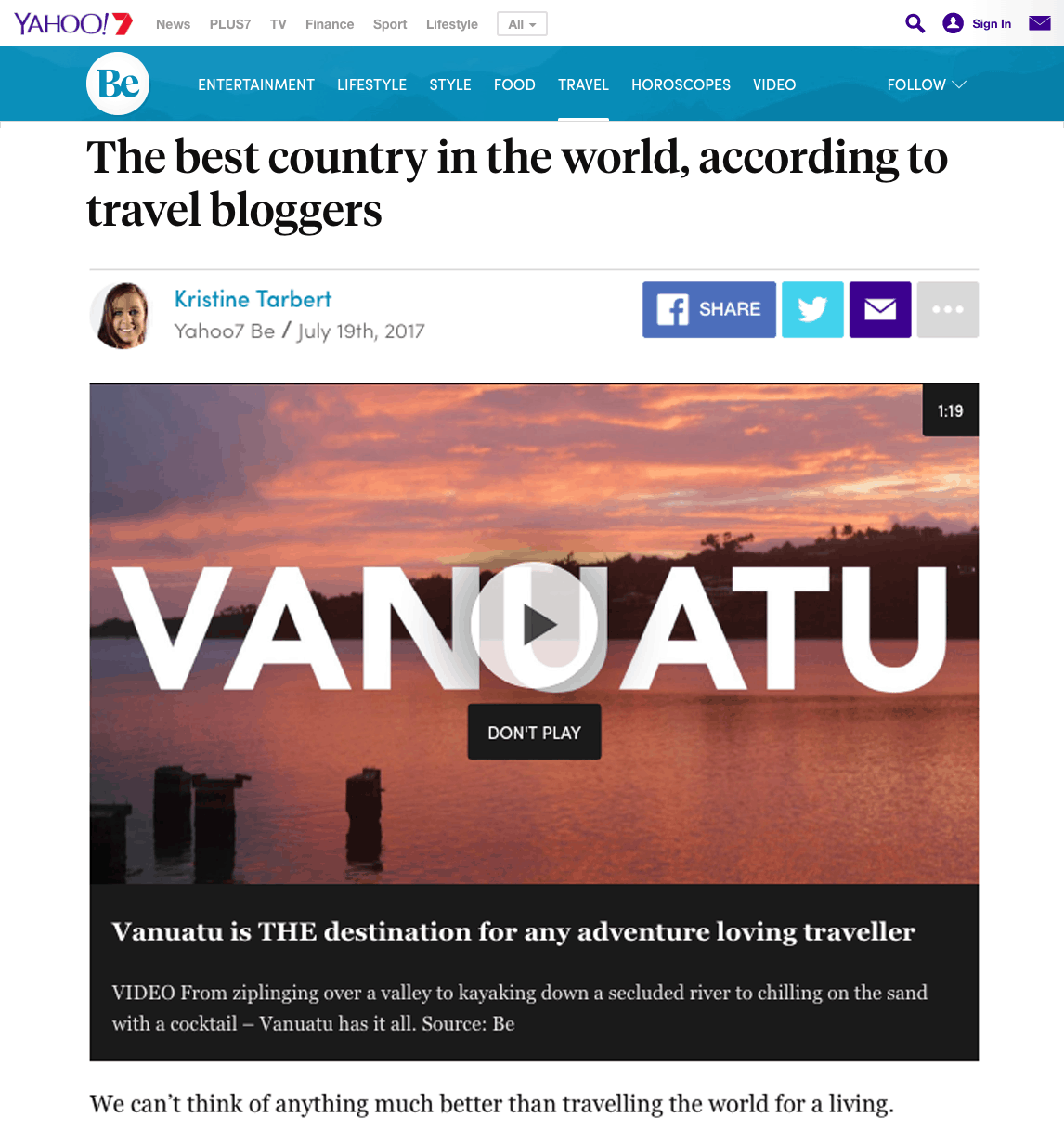 The best country in the world, according to travel bloggers