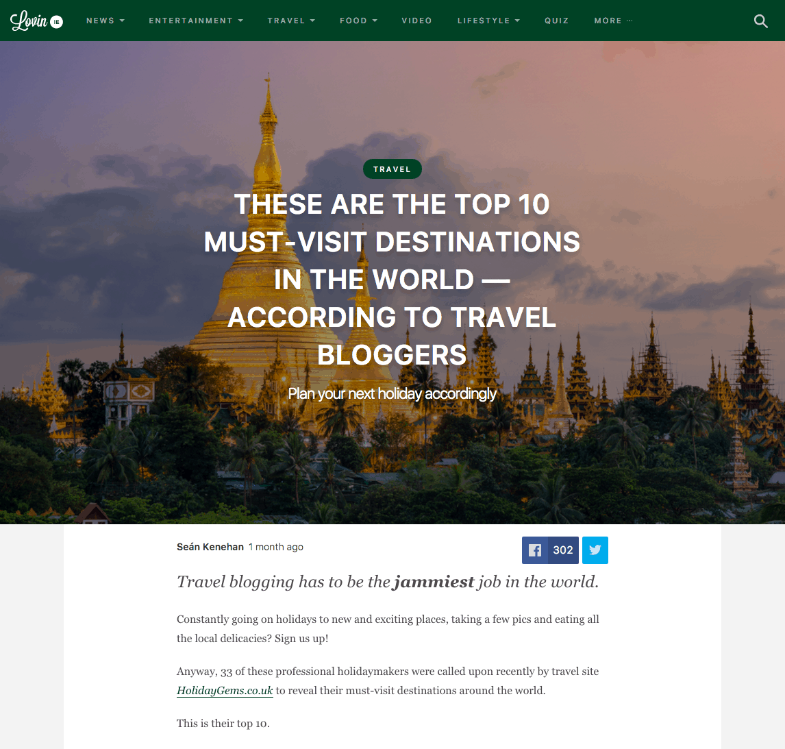 These are the top 10 must-visit destinations in the world - According to travel bloggers