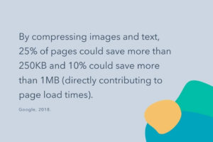 A Study Infographic Showing The Benefits Of Compressing And Optimising Images