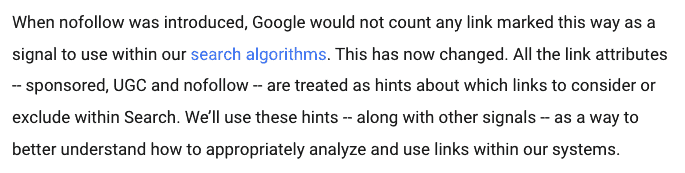 Google Evolving nofollow new ways to identify the nature of links